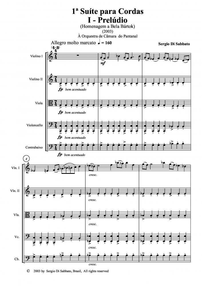 Suíte n.1 para cordas (2003)
