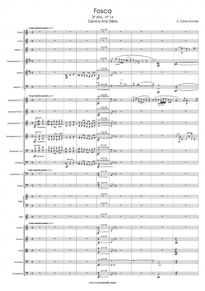 Cena e Ária (Délia) - Trecho do 3º ato da ópera Fosca