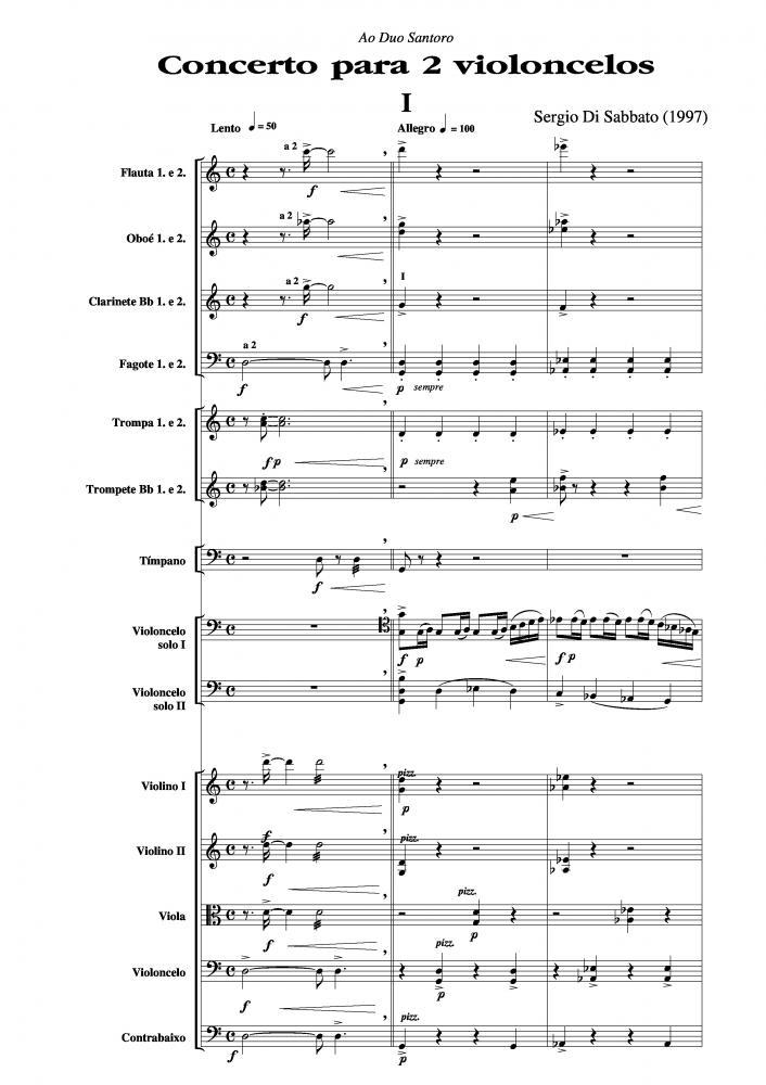 Concerto para dois violoncelos (1997)