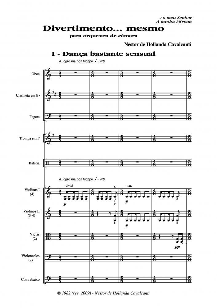 Divertimento... mesmo para orquestra de câmara (1982)
