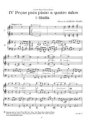 IV Peças para piano a quatro mãos (1967)