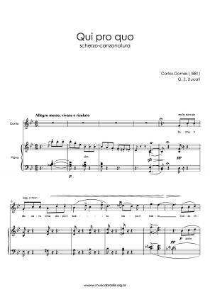 Qui pro quo (voz e piano) (1881)