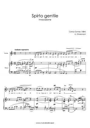Spirto gentile (voz e piano) (1884)