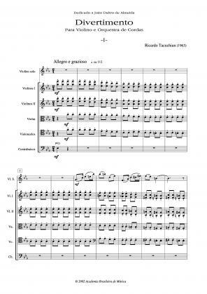 Divertimento para Violino e Orquestra de Cordas (1963)