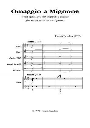 Omaggio a Mignone para quinteto de sopros e piano (1997)