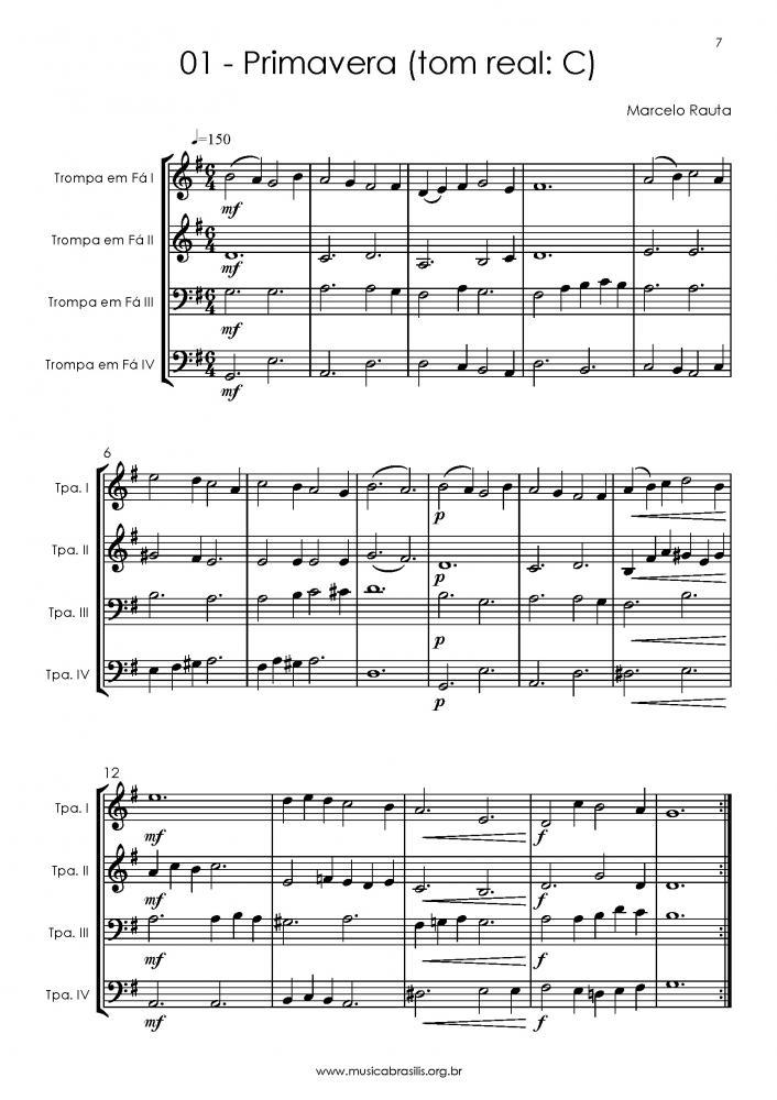 12 obras para quarteto de trompas (2015)