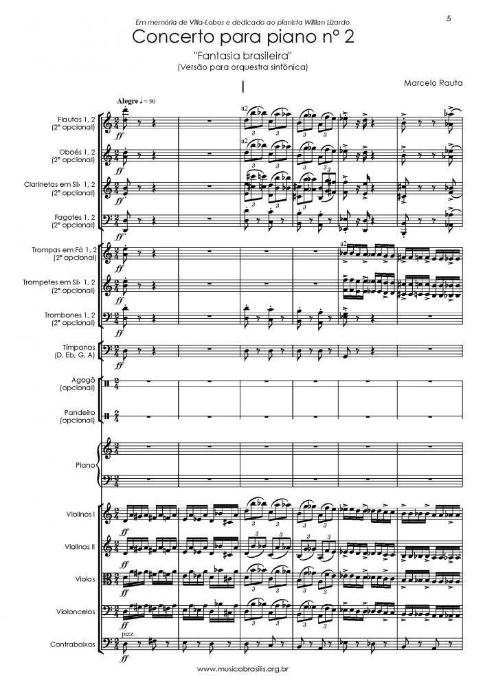 Concerto para piano n. 2 (versão para orquestra sinfônica) (2018)