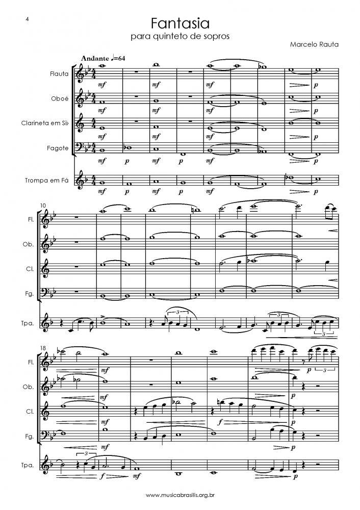 Fantasia para quinteto de sopros (2017)