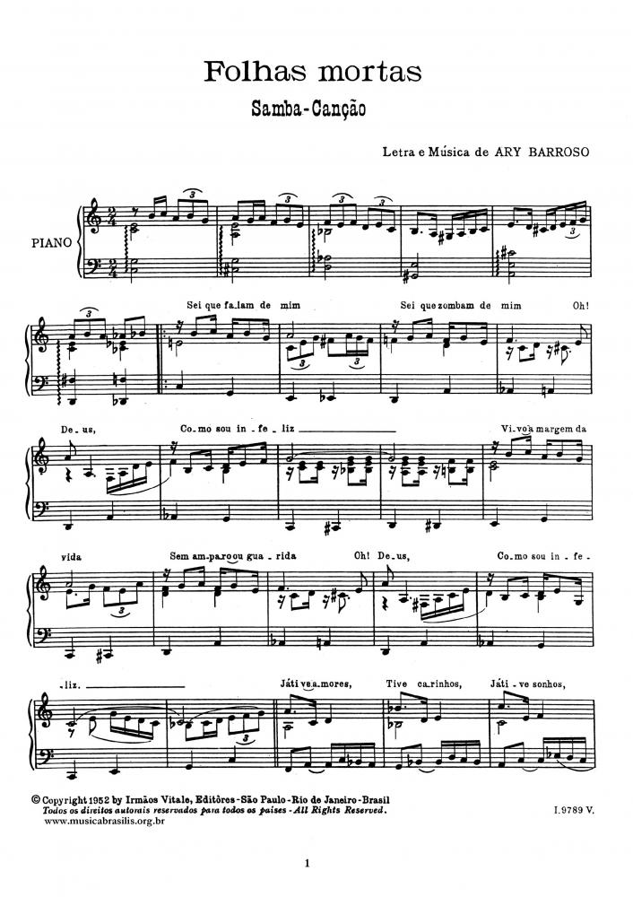 Folhas mortas (piano)