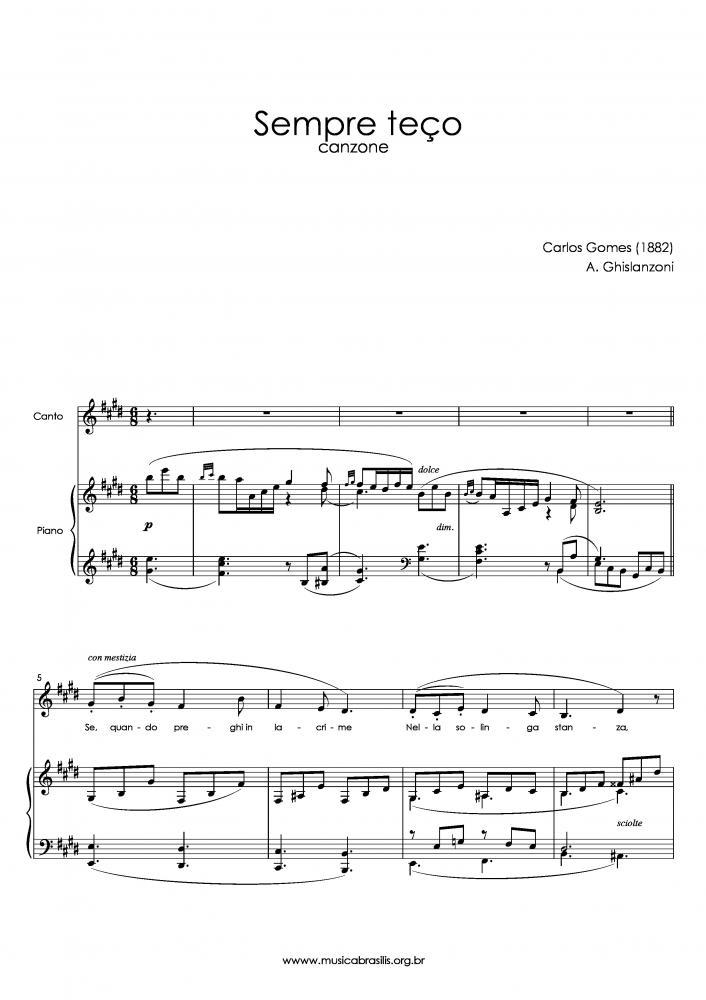 Sempre teço (voz e piano) (1882)